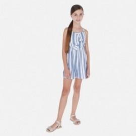 Kombinezon w paski dziewczęcy Mayoral 6813-19 Niebieski