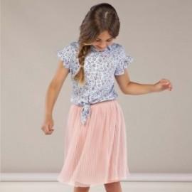 Spódnica plisowana dla dziewczynki Mayoral 6951-79 Pudrowy róż