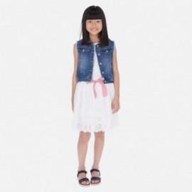Spódnica haftowana dziewczęca Mayoral 6953-15 Biały