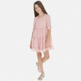 Sukienka w groszki dziewczęca Mayoral 6968-10 Różowy