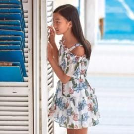 Sukienka na ramiączkach dziewczęca Mayoral 6974-75 Kremowy