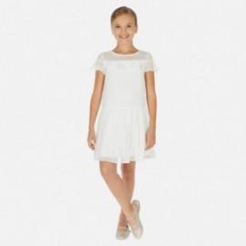Sukienka elegancka dla dziewczynek Mayoral 6976-37 Biały