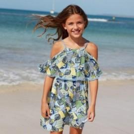 Sukienka we wzory dziewczęca Mayoral 6978-10 Niebieski