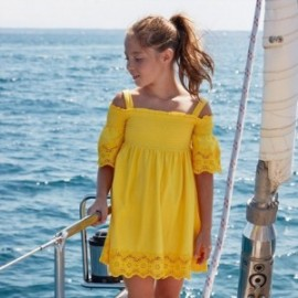 Sukienka na ramiączkach dziewczęca Mayoral 6980-92 Żółty