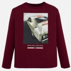 Koszulka sportowa dla chłopca Mayoral 7041-95 bordowa