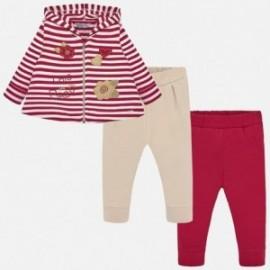 Dres 3 części dla dziewczynki Mayoral 2839-52 Czerwony