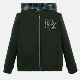 Bluza z kapturem dla chłopca Mayoral 7449-35 zielona