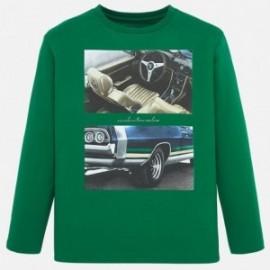 Koszulka bawełniana dla chłopca Mayoral 7021-16 zielona