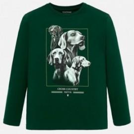 Koszulka sportowa dla chłopca Mayoral 7034-28 zielona