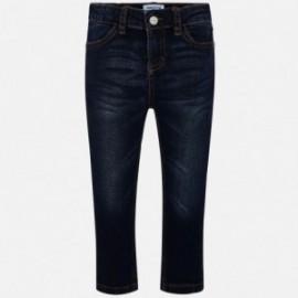 Spodnie rurki jeans basic dla dziewczynki Mayoral 70-57 granat
