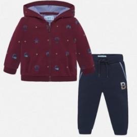 Dres bluza we wzory dla chłopca Mayoral 2843-82 bordo
