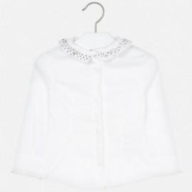 Bluzka Popelinowa Dla Dziewczynki Mayoral 4102-19 biała
