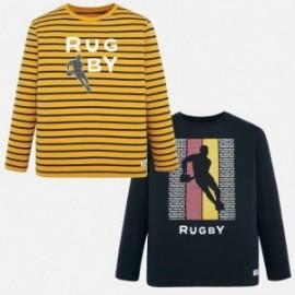 Koszulki w dwupaku dla chłopca Mayoral 7025-96 żółty