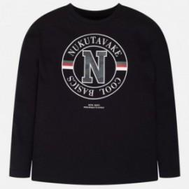 Koszulka basic dla chłopca Mayoral 842-49 czarny