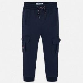 Spodnie dzianinowe dla chłopca Mayoral 4525-41 Granat