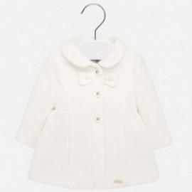 Płaszcz elegancki flauszowy dla dziewczynki Mayoral 2428-89 krem