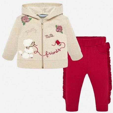 Dres wyszywany dla dziewczynki Mayoral 2838-56 Czerwony