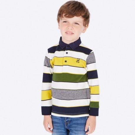 Koszulka polo w paski dla chłopca Mayoral 4114-11 Śmietanka