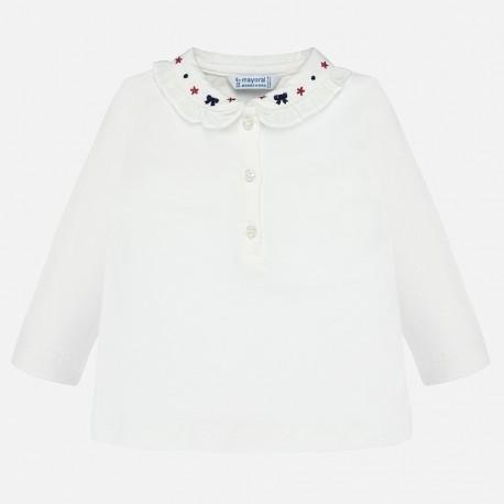 Koszulka polo basic dla dziewczynki Mayoral 104-57 krem