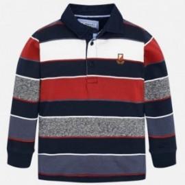 Koszulka polo w paski dla chłopca Mayoral 4114-13 granat