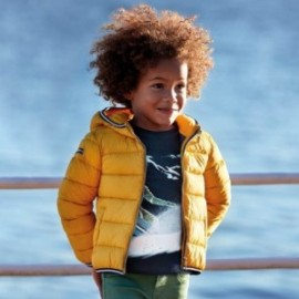 Kurtka pikowana przejściowa dla chłopca Mayoral 4443-55 żółta