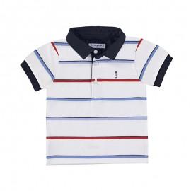 Koszulka polo w paski dla chłopca Mayoral 1151-77 granat