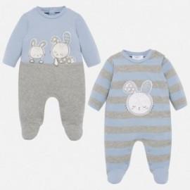 Komplet 2 piżamki dla dziewczynki Mayoral 2710-31 niebieska
