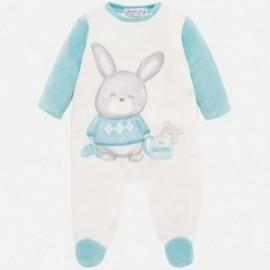Piżamka welurowa dla chłopca Mayoral 2725-82 turkus