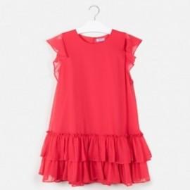 Sukienka z falbankami dla dziewczyny Mayoral 6961-17 Czerwony
