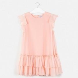 Sukienka z falbankami dla dziewczyny Mayoral 6961-16 Pudrowy róż