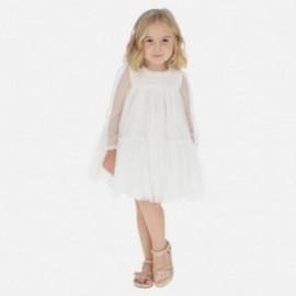 Sukienka tiulowa dla dziewczynek Mayoral 3920-28 Kremowy