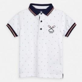 Polo z krótkim rękawem chłopięce Mayoral 3151-35 Biały