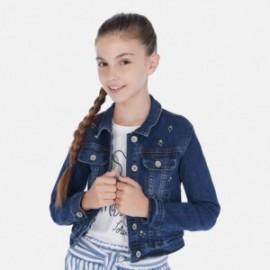 Kurtka jeans dziewczęca Mayoral 6461-44 Granatowy