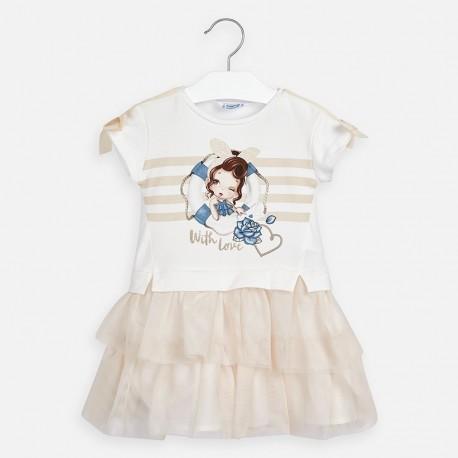 Sukienka dla dziewczynki Mayoral 3958-44 Beżowy