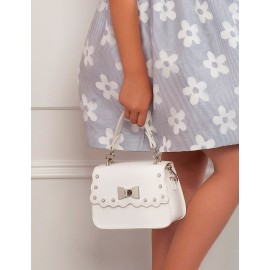 Elegancka torebka z eko skóry dla dziewczynki Abel & Lula 5435-71 biała
