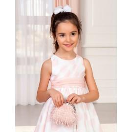Elegancka torebka z frędzelkami dla dziewczynki Abel & Lula 5436-70 róż