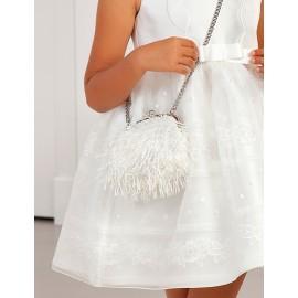 Elegancka torebka z frędzelkami dla dziewczynki Abel & Lula 5436-71 biała