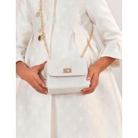 Elegancka torebka z połyskiem dla dziewczynki Abel & Lula 5437-74 krem