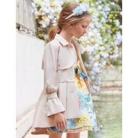 Płaszcz elegancki dla dziewczynki Abel & Lula 5318-90 Beż