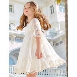 Sukienka wizytowa dla dziewczynki Abel & Lula 5019-3 Krem