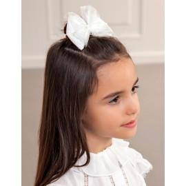 Spinka do włosów dla dziewczynki Abel & Lula 5416-30 Biała