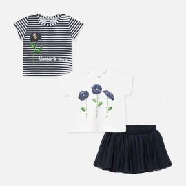 Komplet spódnica 3 częściowy dla dziewczynki Mayoral 1950-48 Granat