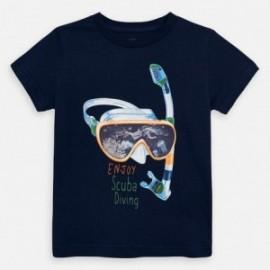Koszulka z krótkim rękawem chłopięca Mayoral 3070-68 Granatowy