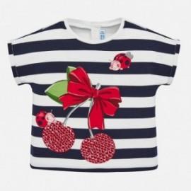 Koszulka w paski dla dziewczynki Mayoral 1067-41 Granatowy