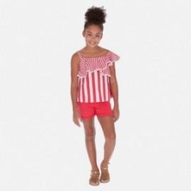 Szorty z paskiem dla dziewczyny Mayoral 275-57 Czerwony