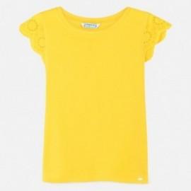 Koszulka z haftem dla dziewczynki Mayoral 6030-54 Żółty