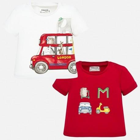 Komplet 2 koszulki dla chłopca Mayoral 1037-51 Czerwony