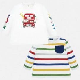 Komplet 2 bluzeczki chłopięce Mayoral 1038-21 Czerwony