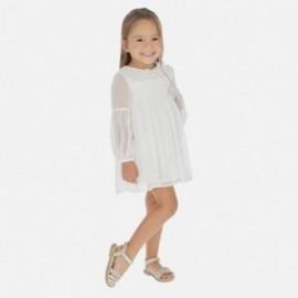 Sukienka elegancka dla dziewczynki Mayoral 3914-20 Biały