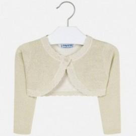 Sweter bolerko dziewczęcy Mayoral 314-93 Beżowy